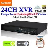 New 24CH Super XVR 1.5U All HD 1080P Recording 3 in 1 4*HDD port DVR CCTV Surveillance Video Recorder for AHD/Analog/IP Camera
