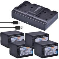 4x 3600mAh VW VBK360 VW VBK360 VBK360 Battery and Charger for Panasonic HDC HS80 SD40 SD60 SD80 SDX1 SDR H100 HS60 HS80 H85 H95