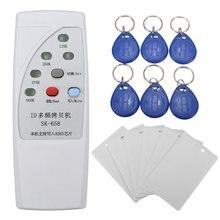 Новый портативный 125 кГц RFID ID Card Дубликатор Программист читателя писатель Копиры копировальный + 6 шт. карты + 6 pcstags Комплект