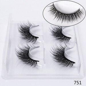 Image 4 - SEXYSHEEP 2 pairs natural false eyelashes fake lashes makeup kit 3D Mink Lashes eyelash extension mink eyelashes maquiagem