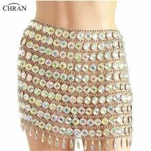 Chran Coin Beaded Chain Skirts Sexy Bikini Beach Jewelry Boho Carnival Festival Cosplay Wear Outfit