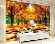 beibehang Gold Montreal landscape painting stone TV background wall papel de parede wallpaper papier peint duvar kagit behang