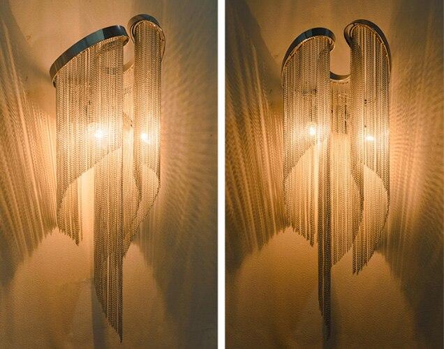 Современный Дизайн Роскошные модные алюминиевые Настенные светильники с держателями E14, современные прикроватные Настенные светильники для спальни(WL-50