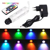 Car use DC12V 6W RGB LED Fiber Optic light engine +RF 17key Remote controller