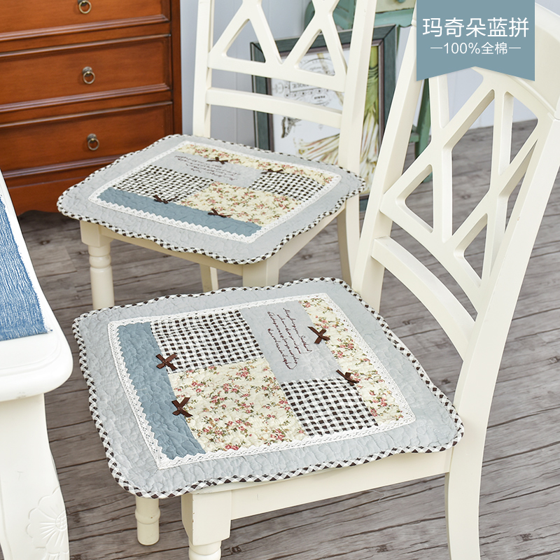 100% cotton breathable and thin dining chair cushion, Office computer chair pad general belt is anti-skid