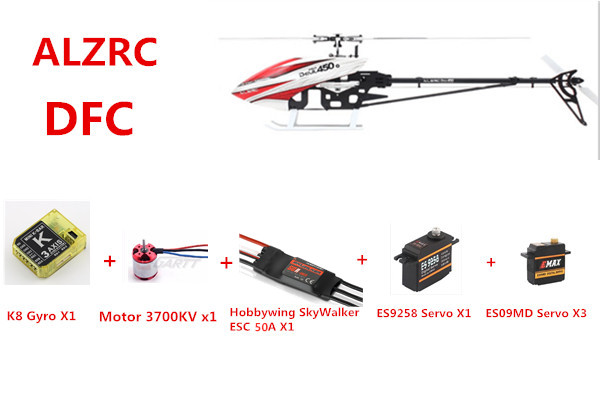 Upgraded Version ALZRC Devil 450 Pro V2 SDC DFC Helicopter Super Combo 50A ECS