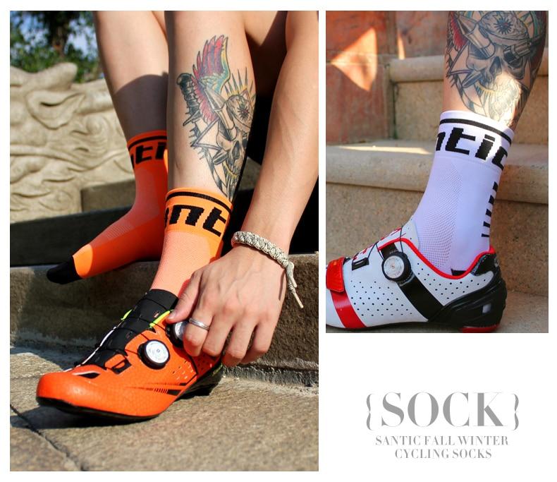 HTB1k5WagxGYBuNjy0Fnq6x5lpXaX - Santic Sport Cycling Socks Breathable Anti-sweat Basketball Socks Running Hiking Men Socks