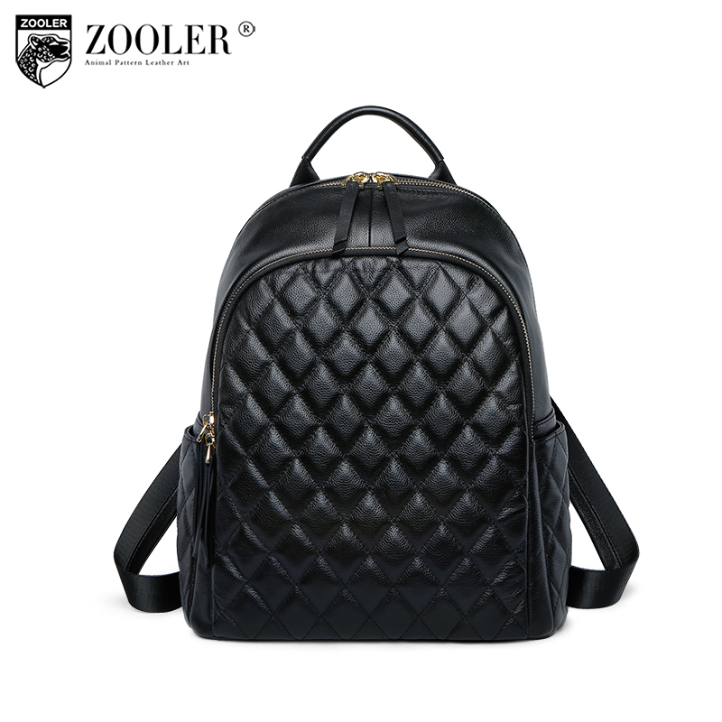 2018 new ZOOLER brand bag Genuine leather bag backpacks quality Woman Backpack bags for lady or boy travel bags#B198 2016 genuine leather woman backpacks fashion cowhide split leather backpacks for lady solid high quality leather woman bag