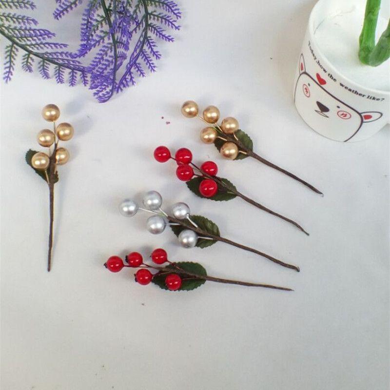 SZVVI Berry Fruitplant Bessen Kunstbloem kersentakken Bloem Kerst - Feestversiering en feestartikelen