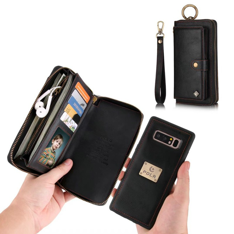 Purse Wristlet Phone case For <font><b>Samsung</b></font> <font><b>Galaxy</b></font> Note <font><b>9</b></font> 8 <font><b>S</b></font> 10 + 10e 8 <font><b>9</b></font> plus s7 edge coque Leather Funda Cover accessories Shell image