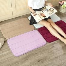 Hot Selling 40x60cm Memory Foam Bath Mats Living room Bathroom Horizontal Stripes Rug Non-slip High Quality D3