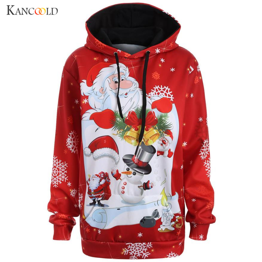 New Christmas Clothes 2017 Women Winter Hoodies Scarf Collar Long Sleeve Fashion Design Autumn Sweatshirts Rough Pullovers n021