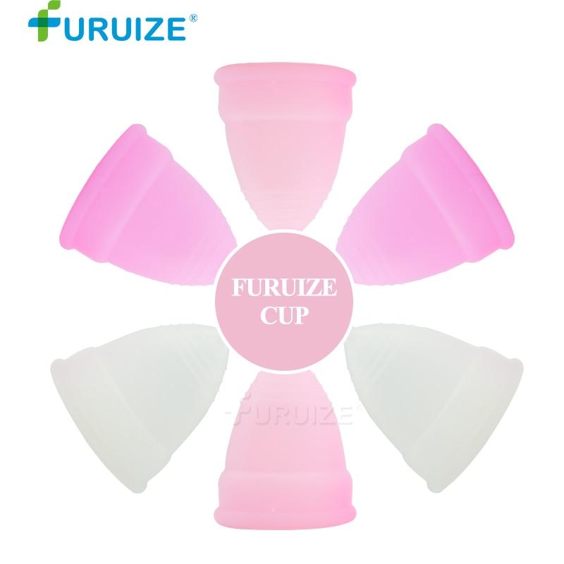 100 pcs del commercio all'ingrosso di Copa mestruale Lady cup igiene femminile delle donne tazza di silicone di Grado Medico Periodo Coppe morbide Copa Coppetta mestruale