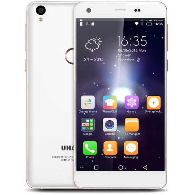 "Original Uhans S1 Android 6.0 LTE 4G Smartphone 5.0"" MTK6753 Octa Core 3GB 32GB Fingerprint 13.0MP Cam Dual SIM Mobile Phone"