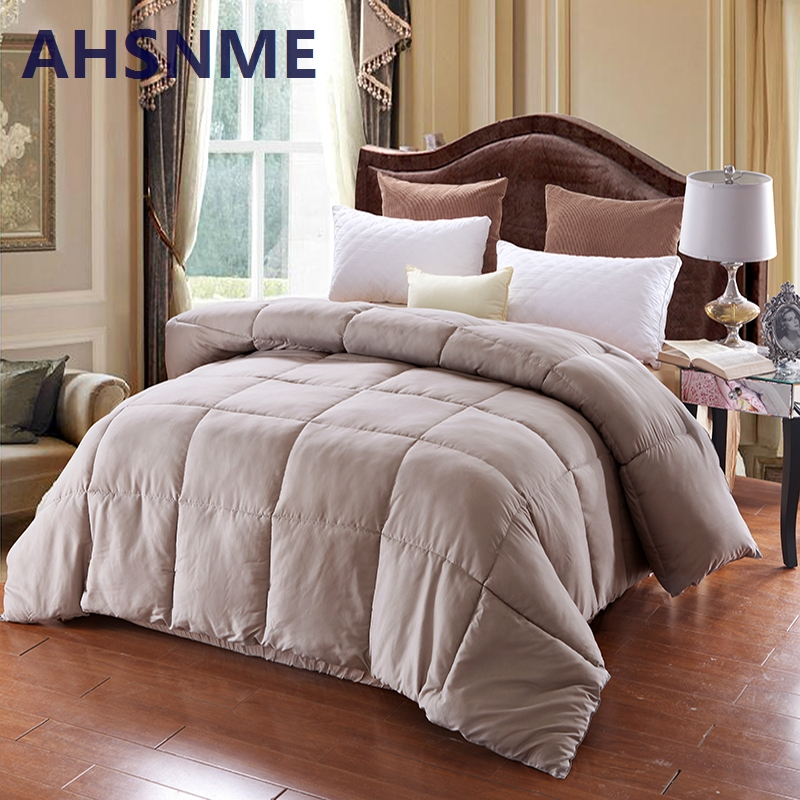 AHSNME 1pcs Spring and Autumn Down Quilt Double King Size Blanket 100 Cotton Blanket on the