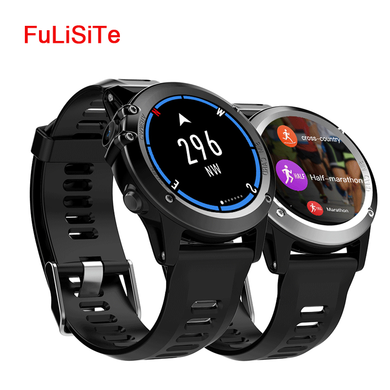 Android Smartwatch H1 GPS wifi 3G Camera Smart Watch Phone Heart Rate Monitor IP68 Waterproof 4GB/512MB SIM Card Watch for Men celiadwn smart watch android 5 1 smartwatch phone 3g mtk6580 512mb 4gb with 2 0 camera wifi gps sim card clock vs x200 dm98
