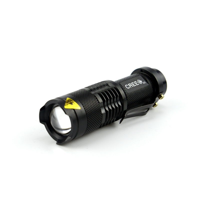 Waterproof CREE Q5 Led Flashlight 7W Camping Lantern Torch Lamp 2000 Lumens 3-Mode Adjustable Flashlight Zoomable 14500/AA ZK91