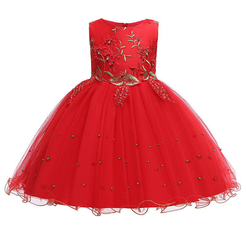Embroidery beading   girls   evening   flower   party   girl     dresses   for party   girls     dress   first communion princess   dress   baby costume
