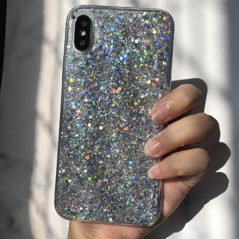 Bling Glitter Crystal Sequins Case For Samsung Galaxy A6 A8 J6 J4 2018 S8 S9 Plus Note 5 8 9 S7 Edge A3 A5 A7 J3 J5 J7 2017