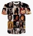 2017 Mais Novo 3D Camiseta Cantor de Reggae Bob Marley Gráfico Clássico Tees Impresso Completo BoB Marley Camiseta Para Homens E Mulheres