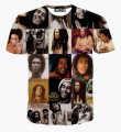 2017 Newest 3D T Shirt Reggae Singer Bob Marley Classic Graphic Tees Full Printed BoB Marley Tee Shirt For Women And Men