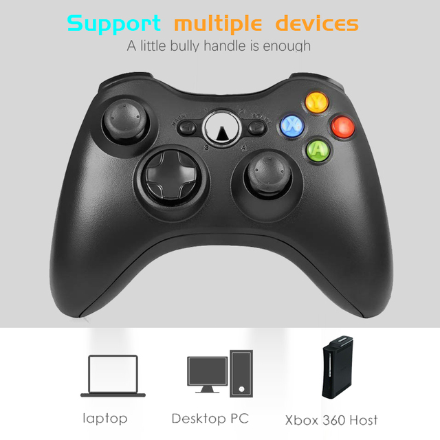 2.4G Wireless Gamepad For Xbox 360 Controle Manette For Xbox360 For Microsoft Xbox 360 Game Joystick For PC Win7/8/10