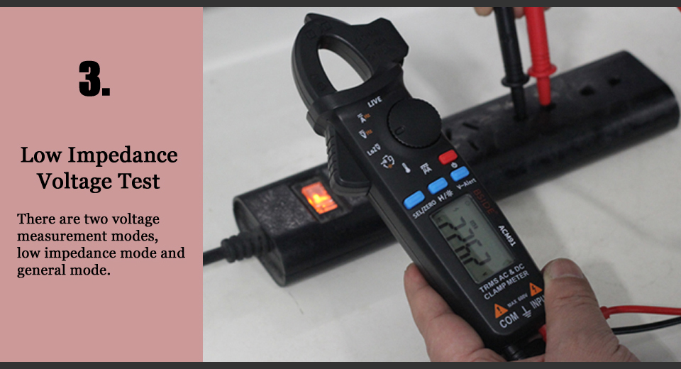 Mini Digital AC/DC Current Clamp Meter With True RMS Measurement And Auto Range Feature For Car Repair 13