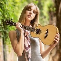 23 Solid Spruce Wood Ukulele Concert Italian Import AQL Strings Guitar Ukulele Hawaii Guitar Professional Music Instrument