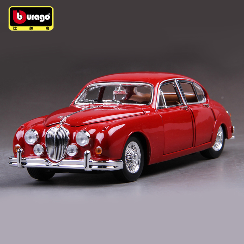 Bburago Jaguar Classic Car 1:18 Scale Car Model Alloy Toys Diecasts & Toy Vehicles Collection Gift For Children bburago 360 challengr 1 24 alloy car model toys diecasts