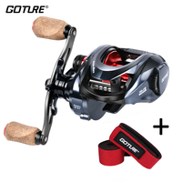 Goture Bait Casting Reel Heavy Duty Coil Max Drag 22LBS/10KG Right/Left Baitcasting Fishing Reel 10+1BB Carbon Magnetic Brake