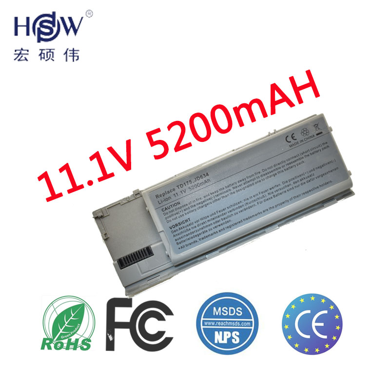 HSW Laptop Battery For Dell D620 D630 D631 M2300 KD491 KD492 KD494 Battery For Laptop KD495 NT379 PC764 PC765 PD685 RD300battery