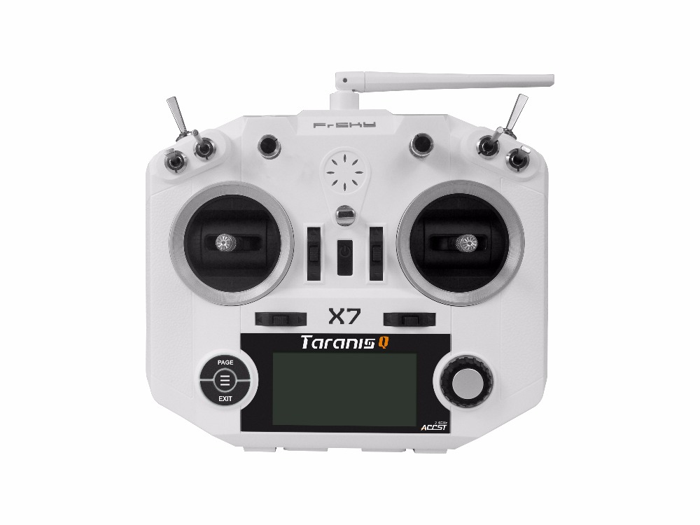 FrSky ACCST Taranis Q X7 2.4GHz 16CH Transmitter Remote Controller for Multicopter without Receiver No Battery NO Charger F21795 frsky accst taranis q x7 transmitter remote control 2 4g 16ch white black international version for rc multicopter bnf rc model