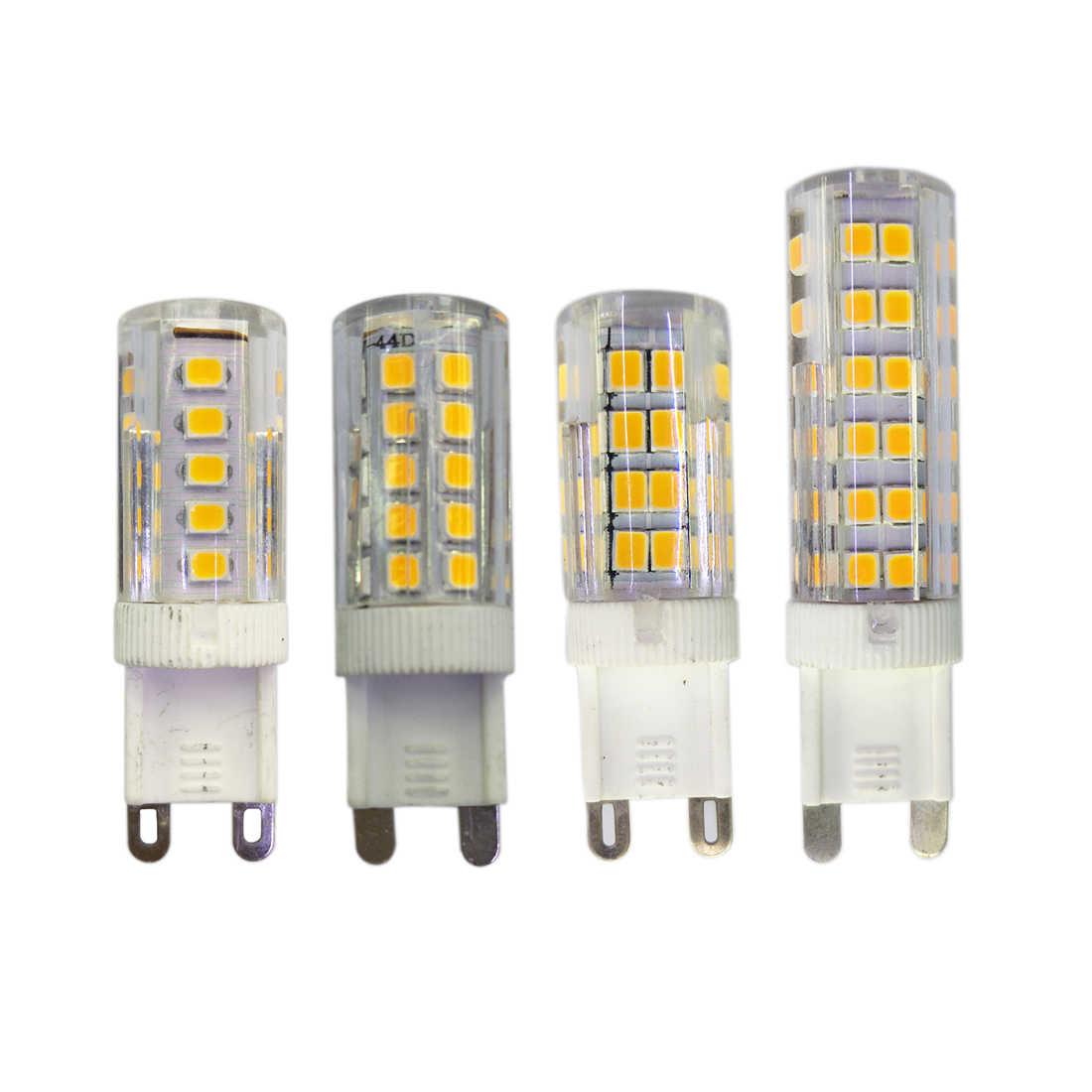 G9 светодиодные лампы AC220V 240V 5 W 7 9 12 Теплый/Холодный белый 360 градусов угол луча