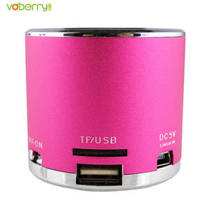 VOBERRY MP3 Player Wireless Portable Mini Speaker FM Radio USB Micro SD TF Card