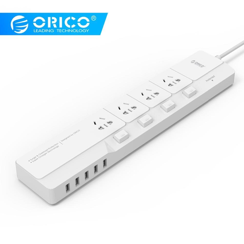 ORICO OSJ 4A5U EU 4 AC Outlets 5 Usb poorten Desktop Charger Multifunctionele stopcontact-in Stekker met Stopcontact van Consumentenelektronica op  Groep 1