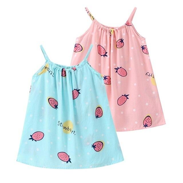 b32fe0501 Girls Dress Summer Children Strawberry Print Vest Dresses Korean ...