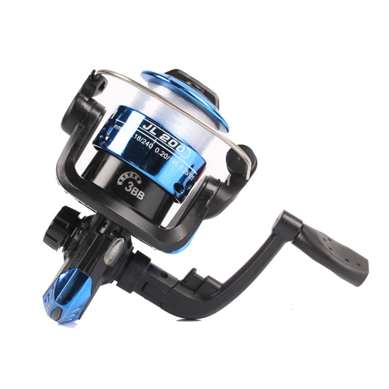 Cheapest Spinning Fishing Reel With 40m Line 3 Ball Bearing Fishing Reel Speed Ratio 5.2:1 Low Price Fishing Tackle Jl200