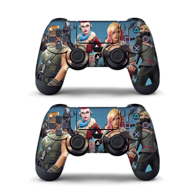 Data Frog 2pcs For Fortress Night Sticker For Sony Playstation4 Game Controller For Ps4 Skin Stickers 11 Styles #6