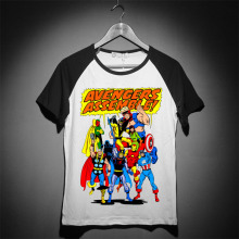 cartoon fashion style kidult style superhero avengers assemble baseball style t shirt summer cool tee