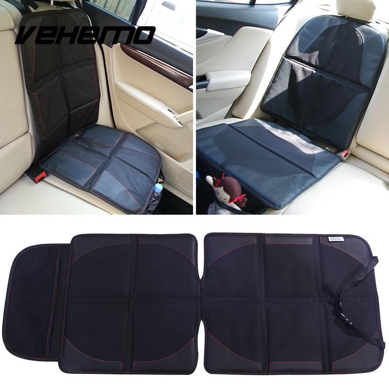 Vehemo Hot Black Auto Car Seat Back Protector Cover for Children Kids Kick Protects
