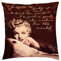 Marilyn Monroe Cotton Linen Cushion Bao Gồm 45 cm * 45 cm Almofada Gối Trang Trí Bao Gồm Sofa Ném Gối Trường Hợp Nhà trang trí nội thất