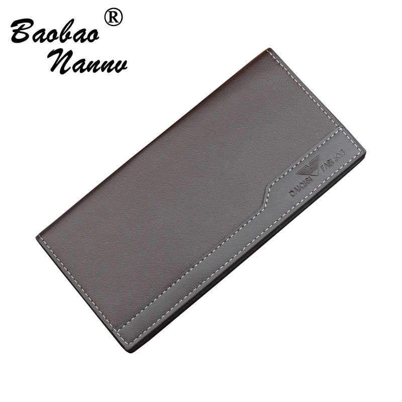 Men's Wallets New 2019 Business Soft Leather Long Thin Wallet Card Holder Fashion Men Purse Multi-function Clutch Male Wallets