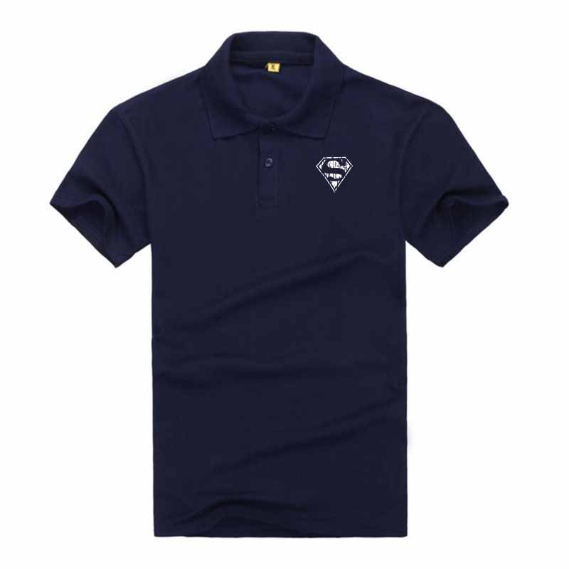 Brand Clothing New Men Superman Logo   Polo   Shirt Men Business & Casual Solid Male   Polo   Shirt Short Sleeve Breathable   Polo   Shirt