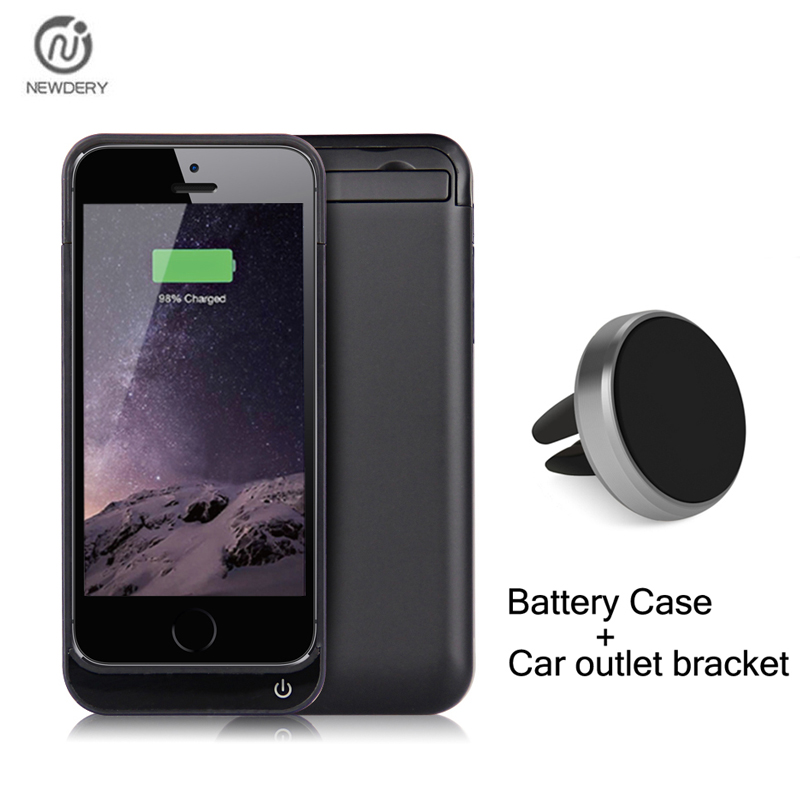 NEWDERY RCN External Backup Power Bank Pack Battery Charger Case Cover For Iphone SE 5S 5