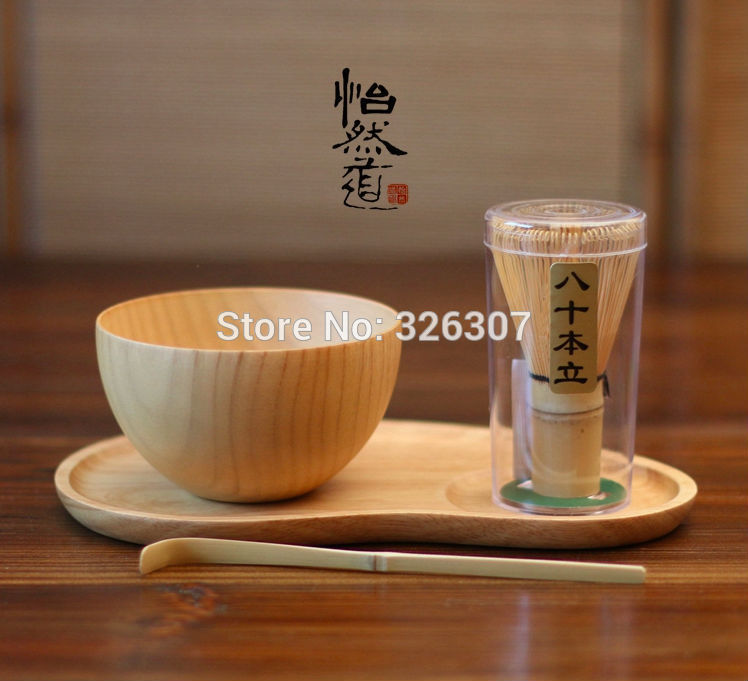 Cadeau de kit de matcha batidor fait à la main au japon bol à fouet Maccha en bois brut