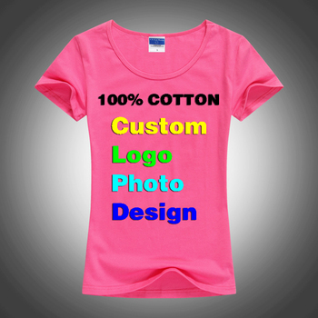 Dünne Sexy Benutzerdefinierte Logo foto Text Gedruckt Weibliche Frauen t-shirt sommer Kühl Grund Dame T-shirts Tops Kurzarm T-stücke Femme Hemd