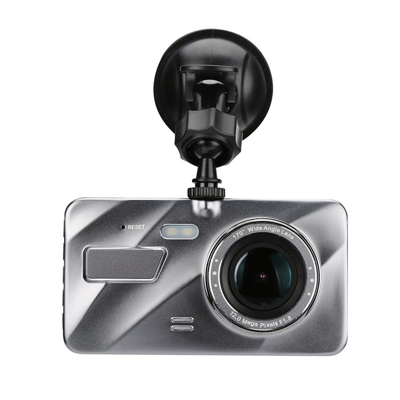 Bike Bicycle Computer 4.0 inch Screen 1080P HD Car DVR Dual Lens Camera Video Recorder Rearview Dash Cam Night Vision A2