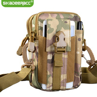 JK43 Quân Sự Tactical Holster Ngoài Trời Sport Điện Thoại Case Đối Với Xiaomi Redmi lưu ý 4 4X 4A Mi6 Mi5 Eo Belt Bag Wallet Pouch ví