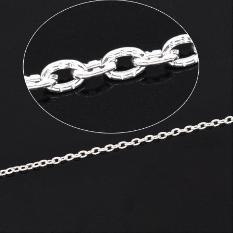10 Meter Doreenbeads Silber Farbe Strukturierte Kabel Link Kette 3mm X 2mm Jewery Erkenntnisse Komponenten Diy (b14897) Klar Und GroßArtig In Der Art