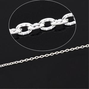 Doreenbeads Link-Chain Findings-Components Jewery Silver-Color 10-Meters 3mm-X-2mm Cable